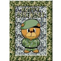Army Bear Themed Card Kit