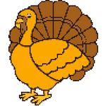 thanksgiving turkey free cross stitch