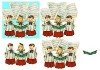 Christmas Singers Decoupage