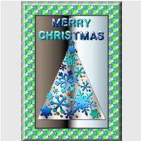 Free Christmas Tree Card Kit