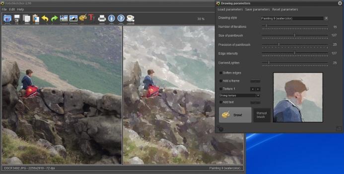 Watercolour Effect in FotoSketcher