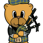 Scottish Piper Bear