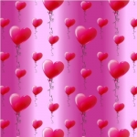 Valentine Hearts Backing Paper