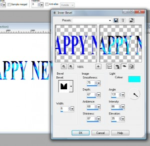 how to make text look embossed in word
