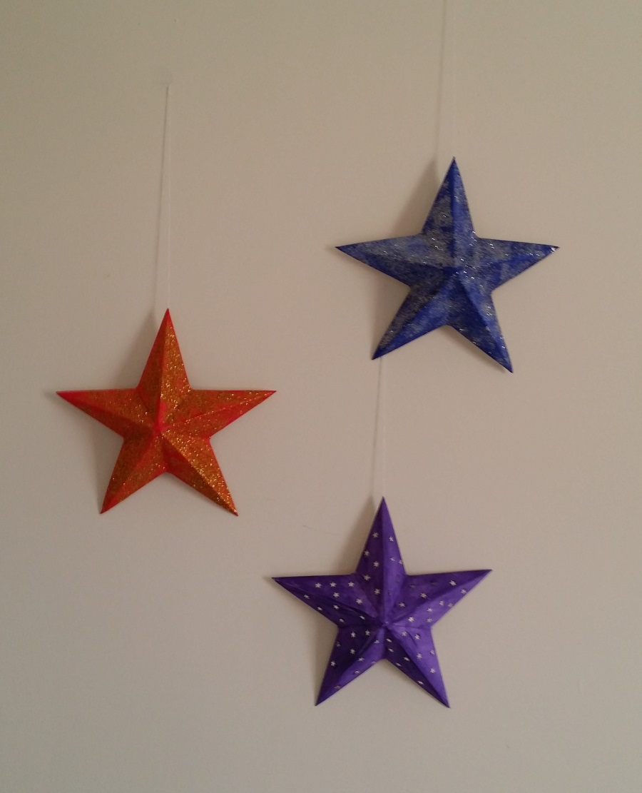 Flat backed star christmas project free craft downloads for Christmas star craft ideas