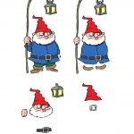 Christmas Carolers 3d Decoupage.