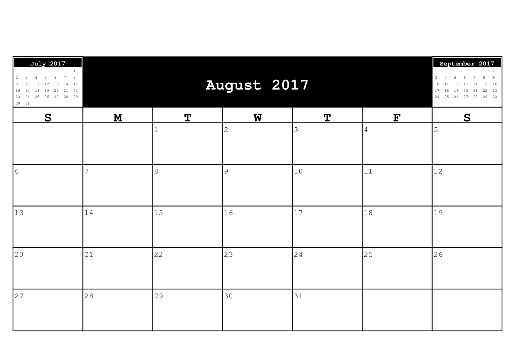 free calendar downloads