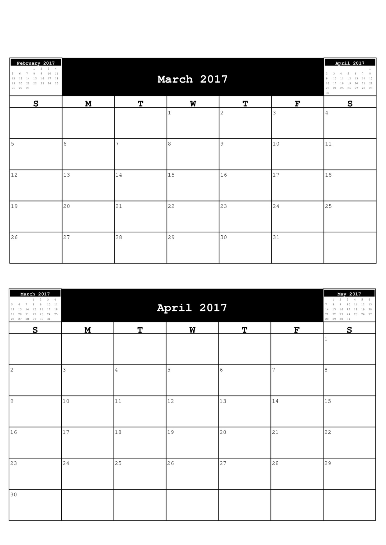 "Calendar April And March : Search results for ""free calendars to print"