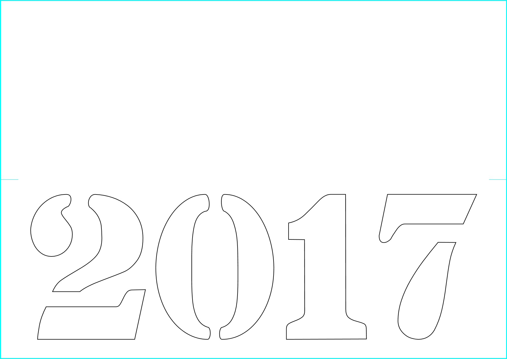 2017 New Year Card Template Free Craft Downloads