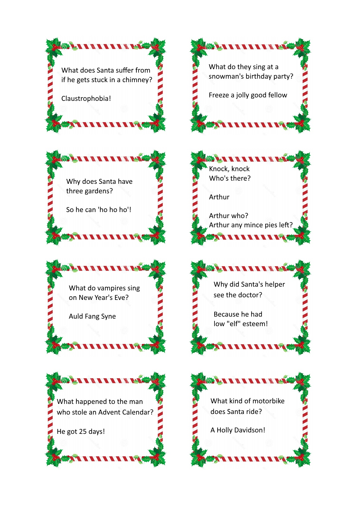 Christmas Cracker Jokes.Christmas Cracker Jokes Free Craft Downloads