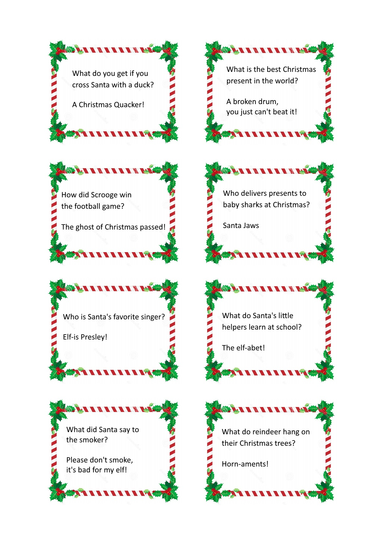 christmas cracker jokes - Childrens Christmas Jokes