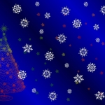 Christmas Tree and Snowflake Landscape Backing Paper