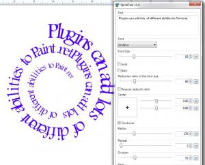 Spiral Text Plugin.