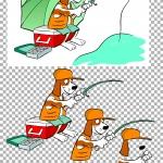 Free Fishing 3d Decoupage.