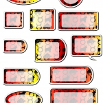 Taurus Zodiac Tags and Labels.