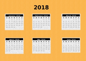 Free 2018 Calendars to download and print.