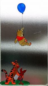 Winnie the Pooh window sticker.