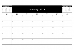 Free 2018 Month to Page Calendars.