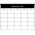 Downloadable 2018 A5 Calendar.