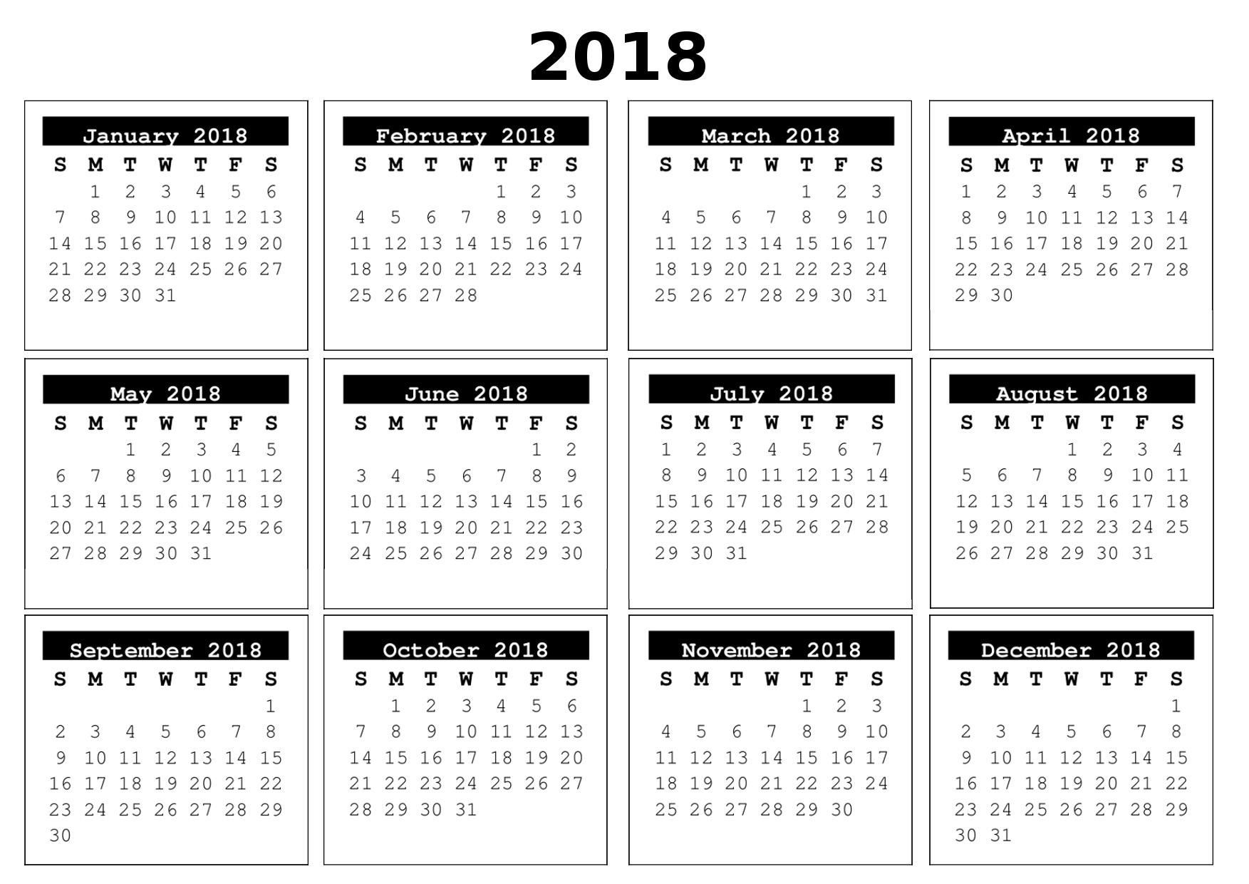 full year calendar 2018