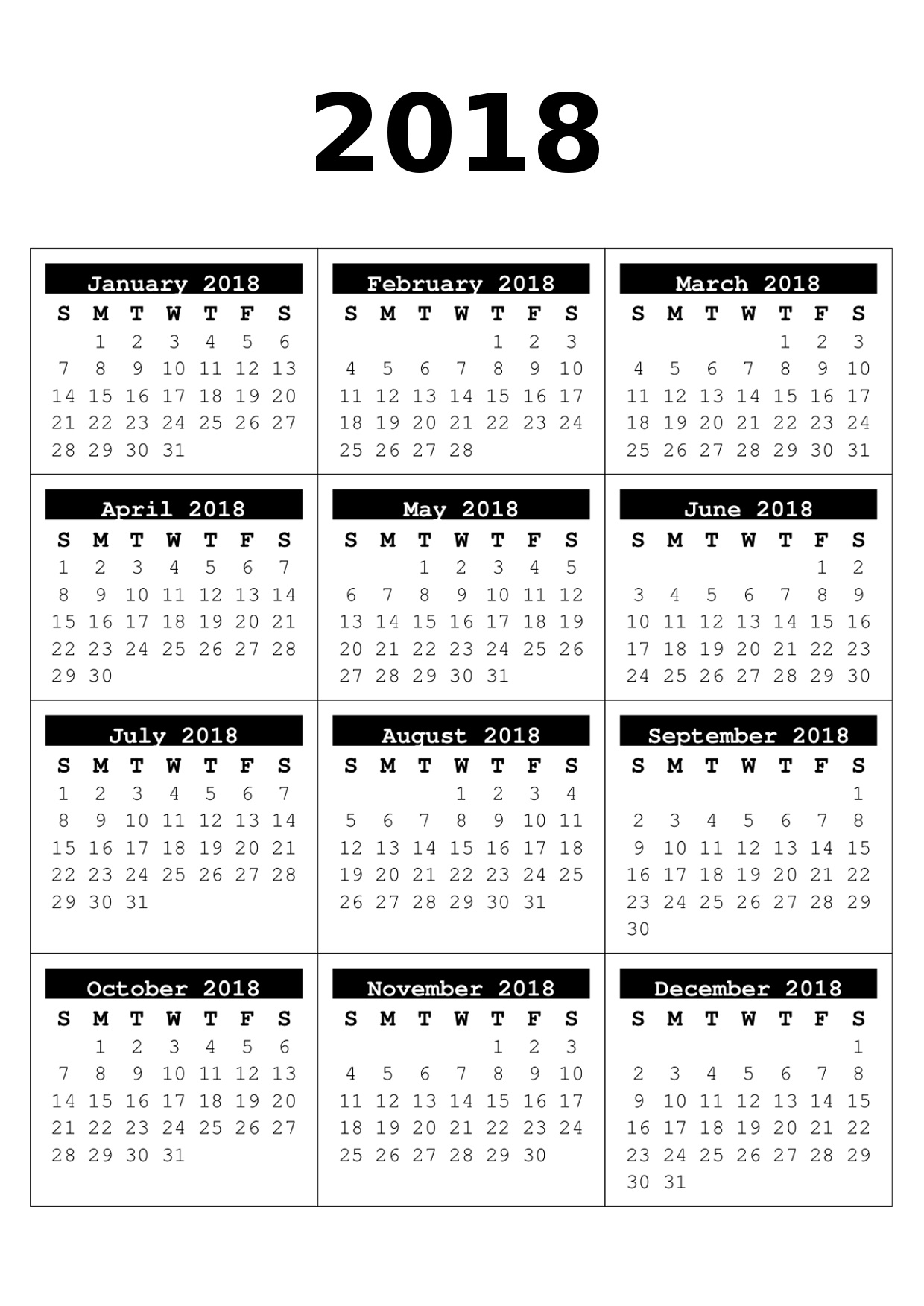 Monthly Calendar Year : Free month to page calendars craft downloads