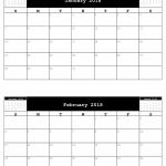 Free 2018 A5 Calendar, 2 months to a sheet.
