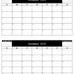 2018 A5 Calendar, 2 months to a sheet.