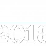 2018 Stencil Template.