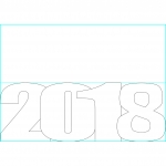 Card Template for 2018 New Year.
