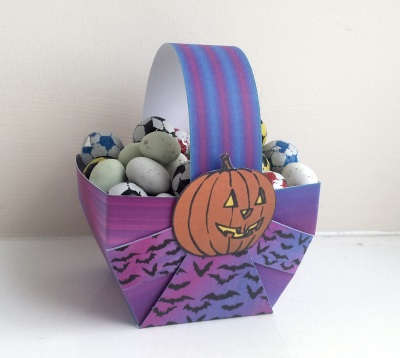 Easter Paper Basket Template 2