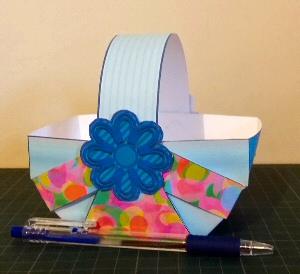 Completed Easter Basket.