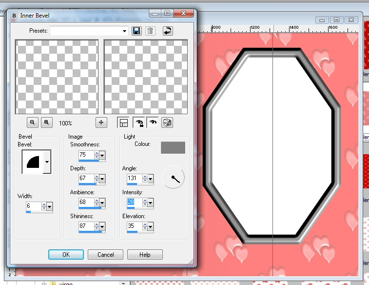 Making Your Own Card Inserts : Inner Bevel