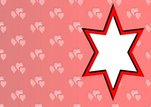 star shaped card insert