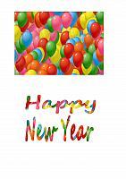 New Year Card Making Decoupage
