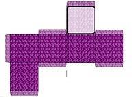 Horseshoe square box template