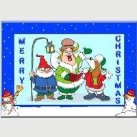 Free Carol Singers Christmas Card Kit.