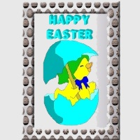 Free Easter Chick Card to download