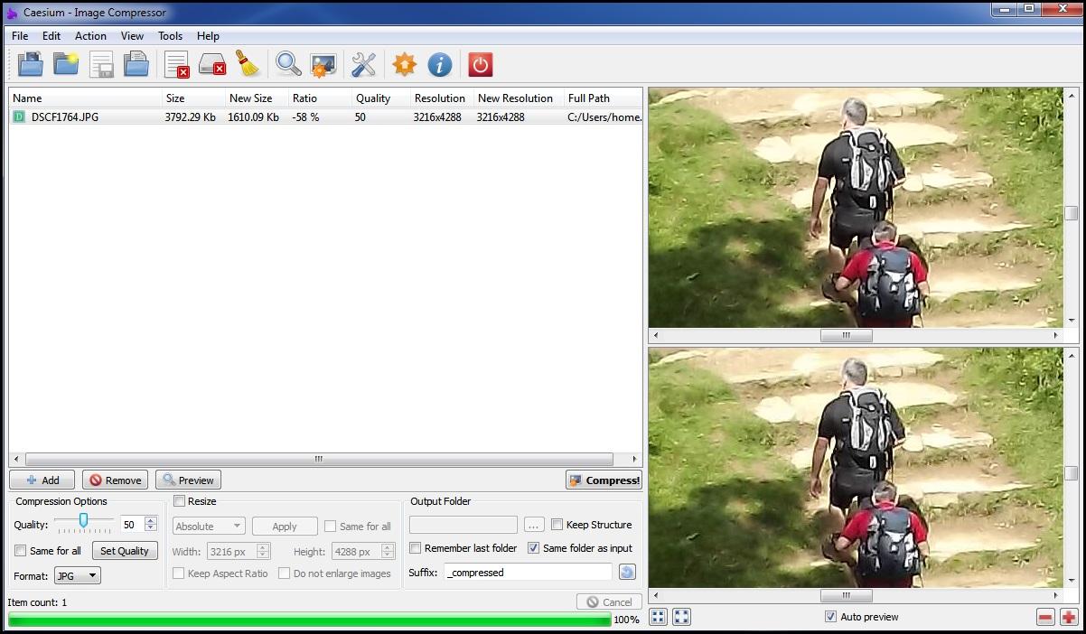 Caesium Image Compression Software