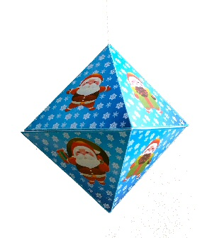 Christmas Bauble 3 paper craft project