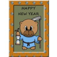 New Year Bear Card.