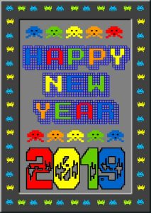 2019 Happy New Year Card Kit.
