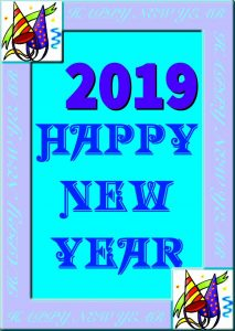 2019 Happy New Year Card Kit.