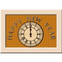 New Year Clock Card.
