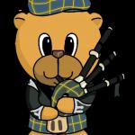 Scottish Piper Bear