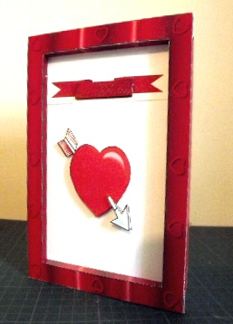 Valentine's Day Frame Card Paper Craft Project.