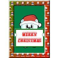 Bear Father Christmas Card