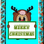 Reindeer Bear Card