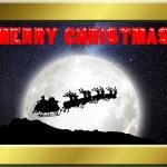 Free Santa Sleigh Card to downlaod and print.