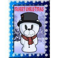 Snowman Bear Card