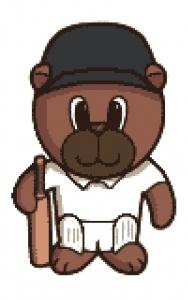 Cricket Bear Cross Stitch